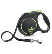 flexi Black Design M tape 5 m, for dogs up to 25 kg / Рулетка флекси для собак весом до 25 кг, лента 5 м