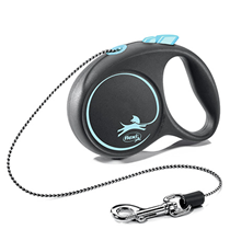 flexi Black Design XS cord 3 m, for dogs up to 8 kg / Рулетка флекси для собак весом до 8 кг, трос 3 м