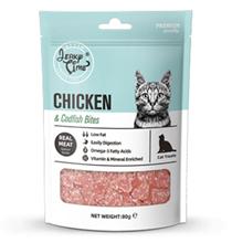 Wanpy Oven Roasted Chicken Jerky & Codfish Hearts / Лакомство Ванпи для кошек Сердечки из Курицы с треской