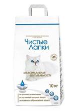 Чистые лапки (Clean Paws) Наполнитель для кошачьего туалета Комкующийся
