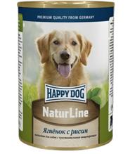 Happy Dog NaturLine / Консервы Хэппи Дог для собак Ягненок с Рисом (цена за упаковку, Россия)