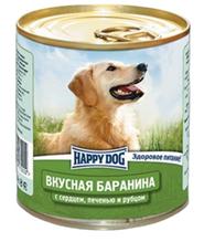 Happy Dog Вкусная Баранина / Консервы Хэппи Дог для собак Баранина с сердцем, печенью и рубцом (цена за упаковку, Россия)