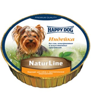 Happy Dog NaturLine / Паштет Хэппи Дог для собак Индейка (цена за упаковку, Германия)