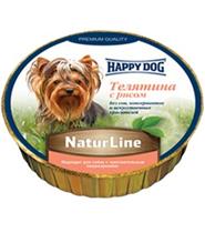 Happy Dog NaturLine / Паштет Хэппи Дог для собак Телятина с рисом (цена за упаковку, Германия)