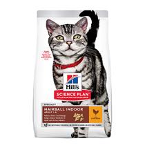 Hills Science Plan Hairball Indoor Adult / Сухой корм Хиллс для взрослых Домашних кошек Выведение шерсти Курица