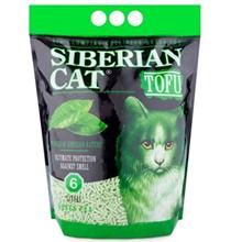 """Сибирская кошка / Наполнитель для кошачьего туалета Тофу """"Зеленый чай"""" Комкующийся"""