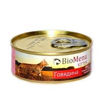 BioMenu Kitten / Консервы для Котят мясной паштет с Говядиной