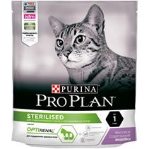 Purina Pro Plan Cat Sterilised Turkey OptiRenal / Сухой корм Пурина Про План для Стерилизованных кошек для Поддержания здоровья почек Индейка