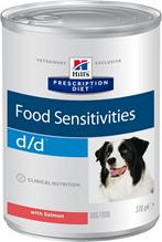 Заказать Hills Prescription Diet Canine d / d Salmon Лечебные консервы для собак с Лососем Заболевание кожи (Цена за упаковку) по цене 2540 руб