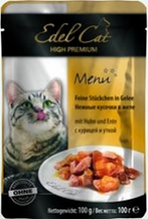 Edel Cat Курица и Утка / Паучи Эдель Кэт нежные кусочки с Курицей и Уткой в Желе Цена за упаковку (20 шт x)