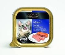 Заказать Edel Cat ( / Влажный корм) Эдель Кэт Нежный Паштет с Лососем и Форелью Цена за упаковку (32 шт x) по цене 1800 руб