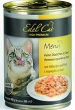Edel Cat Курица и Утка / Консервы (Влажный корм) Эдель Кэт нежные кусочки в соусе с Курицей и Уткой Цена за упаковку (24 шт x)
