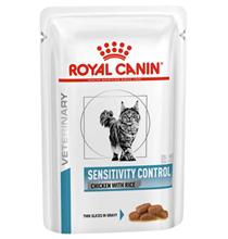 Royal Canin Sensitivity Control Chicken & Rice / Ветеринарный влажный корм (Консервы-Паучи) Роял Канин Сенситивити Контрол для кошек Пищевая аллергия и непереносимость с Курицей и рисом (цена за упаковку)