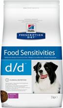Hills Prescription Diet d\d Food Sensitivities Duck & Rice / Лечебный корм Хиллс для собак при Пищевой Аллергии Утка рис