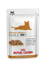 Заказать Royal Canin Senior Consult Stage 2 / Ветеринарный влажный корм (Консервы-Паучи) Роял Канин Сеньор Консалт для Пожилых кошек старше 7 лет Стадия 2 (цена за упаковку) по цене 750 руб
