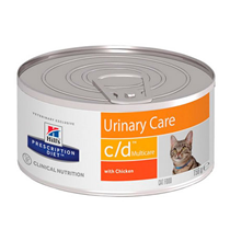 Hills Prescription Diet Feline c\d Multicare Urinary Care Chicken / Лечебные консервы Хиллс для кошек при МКБ Курица (цена за упаковку)