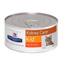 Hills Prescription Diet k\d Kidney Care Chicken / Лечебные консервы Хиллс для кошек при Заболеваниях Почек МКБ Оксалаты Ураты Курица (цена за упаковку)
