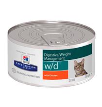 Hills Prescription Diet w\d Digestive Weight Management / Лечебные консервы Хиллс для кошек при Сахарном диабете Запорах Колитах (цена за упаковку)