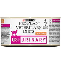 Purina Pro Plan Veterinary Diets UR Urinary Turkey / Лечебные консервы Пурина Про План Ветеринарная Диета для кошек Уринари Мочекаменная болезнь Индейка (цена за упаковку)