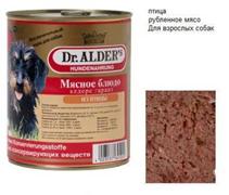 Dr Alders / Консервы Доктор Алдерс для собак всех пород Птица (цена за упаковку)