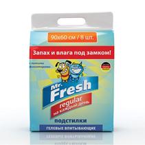 Заказать Mr.Fresh Regular / Пеленки для Ежедневного применения Гелевые впитывающие с Липкими фиксаторами по цене 290 руб